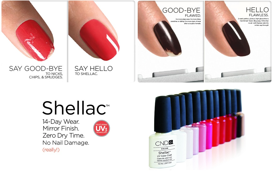 treatments high shine shellac nails